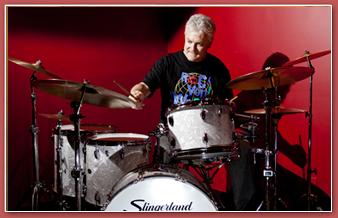 Percussion enthusiast Marc Denis and his vintage Slingerland drum kit