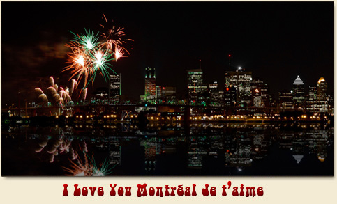 CKGM Montreal Fireworks nightime